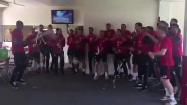 Sheffield United celebrate promotion