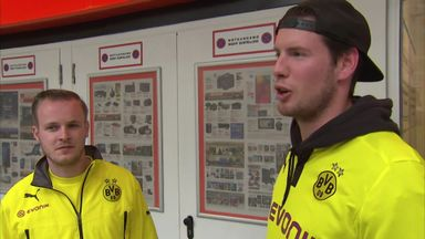 Dortmund fans 'not worried'
