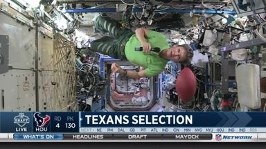 Texans draft from space!