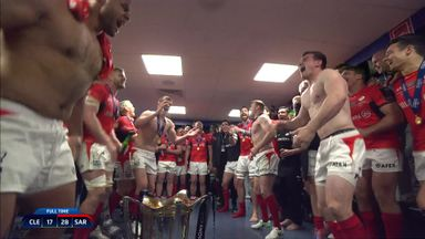 Sarries changing room celebrations!