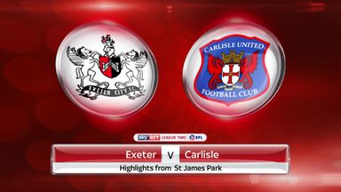 Exeter 3-2 Carlisle (6-5 on agg)