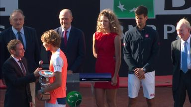 Zverev claims first title