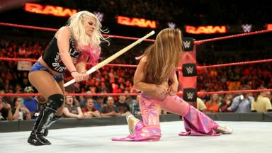 Bliss attacks James with kendo stick!