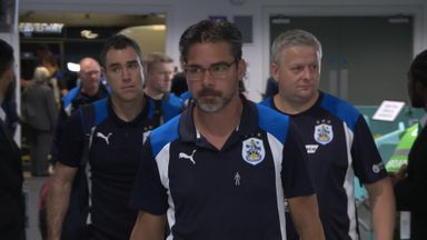 Huddersfield arrive at Wembley