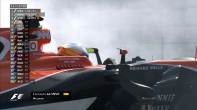 Alonso out in P1