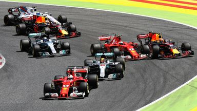 Does Bottas brake early in Spain?