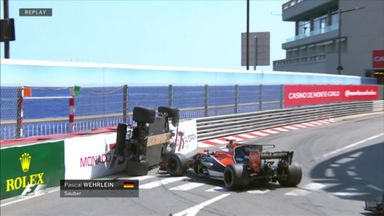 Wehrlein flipped by Button