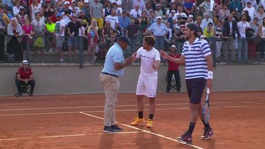 Controversy in doubles match!