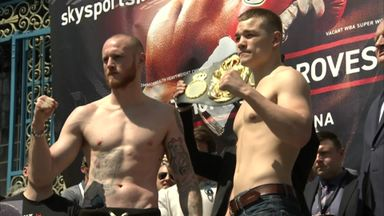 Groves v Chudinov - Weigh-in