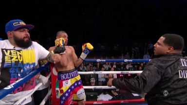 Dirrell's uncle punches Uzcategui