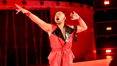 Nakamura makes his entrance into WWE