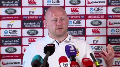 Dan Cole enjoying Lions camaraderie
