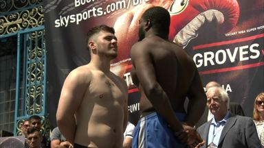 Allen v Thomas - Weigh-in