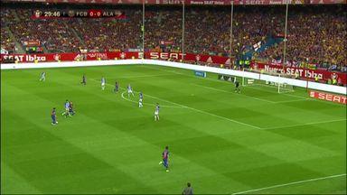 Messi opens scoring in Copa del Rey final