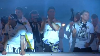 Real Madrid celebrate La Liga win