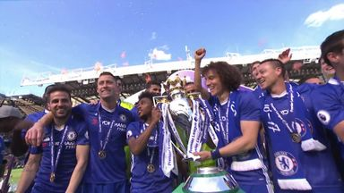 Chelsea lift Premier League trophy