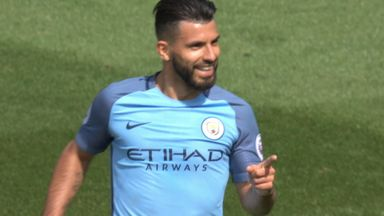 Aguero nets brace in City rout