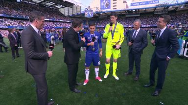 Hazard gives Courtois Golden Glove