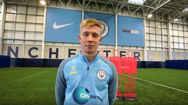 The F2 Freestylers travelled to Manchester City for a masterclass with Kevin De Bruyne
