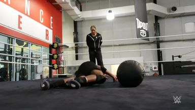 Intense training at NXT