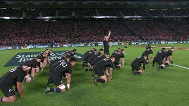 Lions face All Blacks' Haka