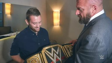 Triple H visits wounded officer