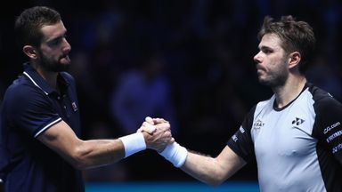 World Tour Finals: Wawrinka v Cilic