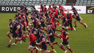 Lions train ahead of first test