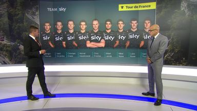 Team Sky at the TDF