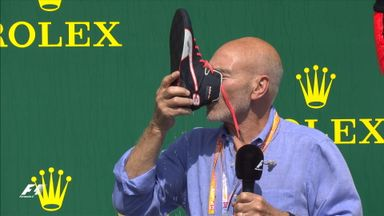 Sir Patrick Stewart does a Shoey!