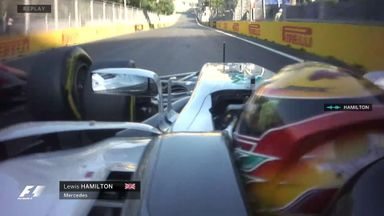 Vettel and Hamilton collide twice