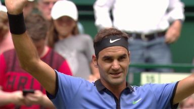 Federer v Sugita: Highlights