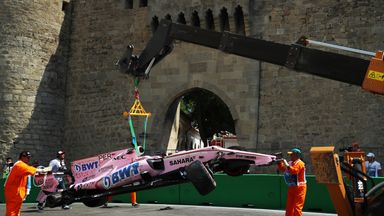 Perez crashes out in Azerbaijan