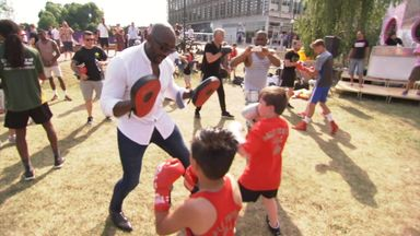 Boxing supports Grenfell residents