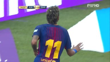 Neymar bags double for Barca