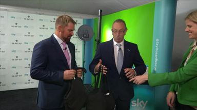 Bumble & Warne hand out bottles