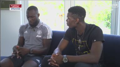 Pogba interviews Lukaku