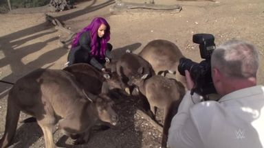 Sasha Banks visits Melbourne