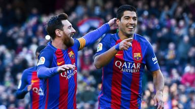 Messi and Suarez's hot tub headers!