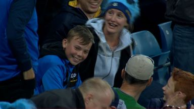 Budding star? Young fan takes amazing catch