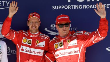 Front row lock-out for Ferrari