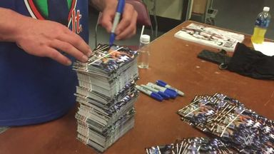 John Cena signs 25,000 autographs