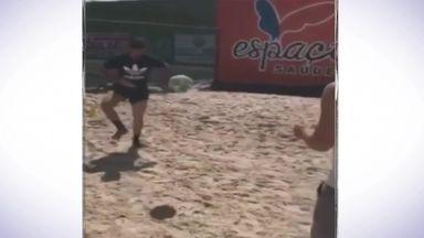 Costa's solo training session