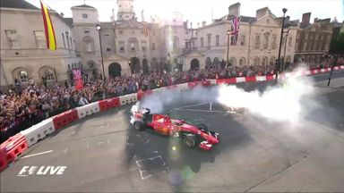 Vettel races around London