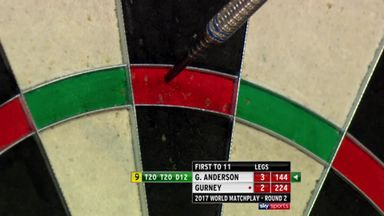 Anderson just misses 9-darter