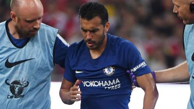 Pedro suffers facial injury