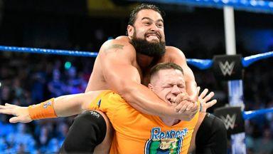 Rusev blindsides John Cena