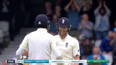 Stokes smashes 3 sixes!