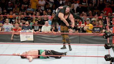 Strowman attacks Reigns and Joe