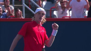 Shapovalov saves match point!